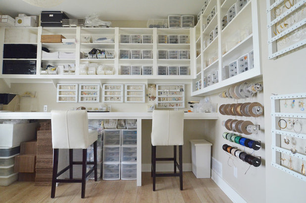 Contemporary Home Office by Sarah Greenman