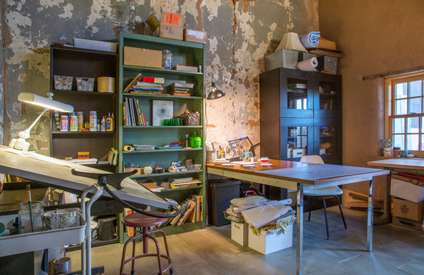 Eclectic Home Office by Margot Hartford Photography