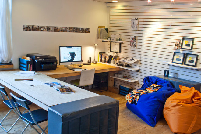 Contemporary Home Office by Emily Campbell