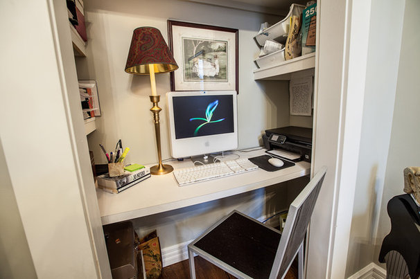 Traditional Home Office by Becki Peckham