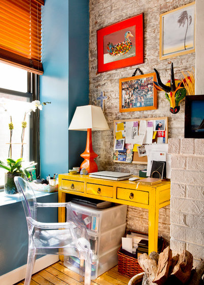 Eclectic Home Office & Library by Rikki Snyder