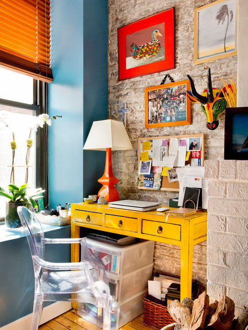 Color Pop Home Office Design Ideas, Renovations & Photos