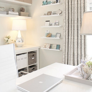 Example of a trendy home office design in Orange County