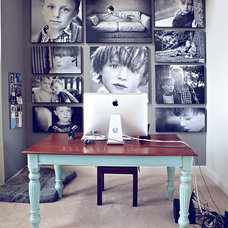 contemporary home office by Mary Schannen