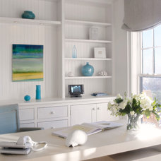 Beach Style Home Office by Nantucket Architecture Group Ltd.