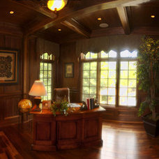Traditional Home Office by King's Court Builders, Inc.