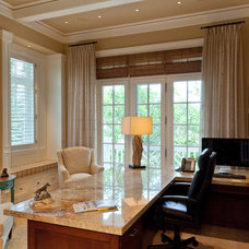 Traditional Home Office by Busby Cabinets