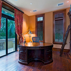 Traditional Home Office by Jere Bradwell