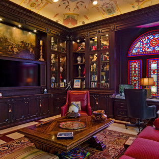 This is an example of a victorian home office in Tampa.