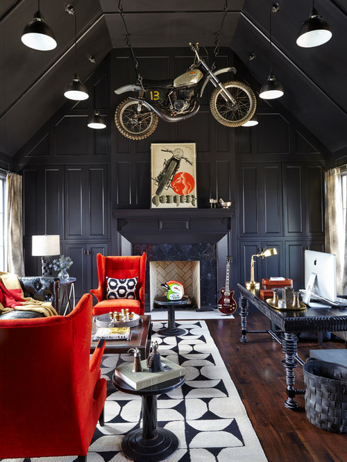 Motorcycle theme ideas pictures remodel and decor for Motorcycle decorations home