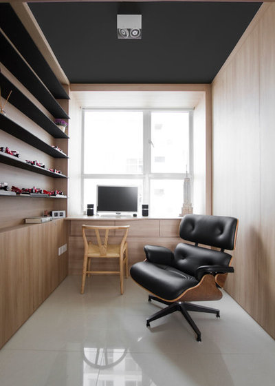 Contemporary Home Office & Library by AO Studios
