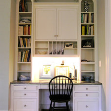 Contemporary Home Office by Cameo Kitchens, Inc.
