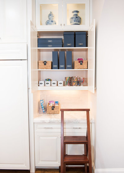 Transitional Home Office by NEAT Method Santa Barbara