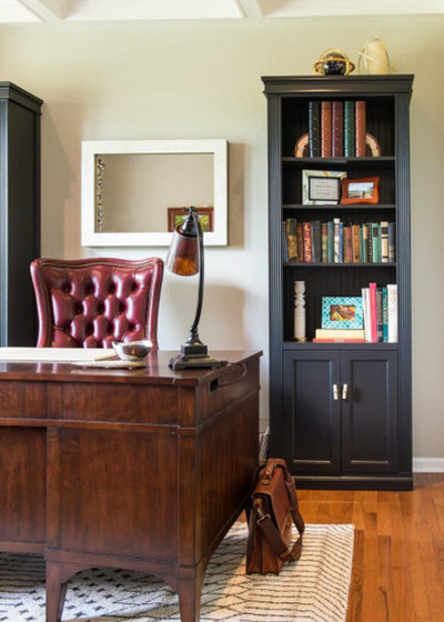Transitional Home Office by Your Favorite Room By Cathy Zaeske