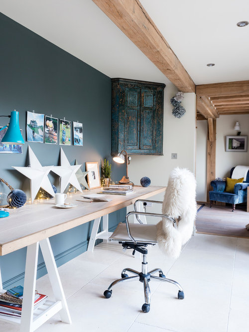 Open Study Room: Rustic Home Office Design Ideas, Remodels & Photos