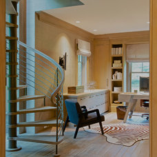 Transitional Home Office by RR Builders, LLC