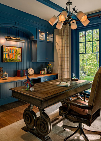 Beach Style Home Office by TMS Architects