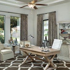 Transitional Home Office by Arthur Rutenberg Homes