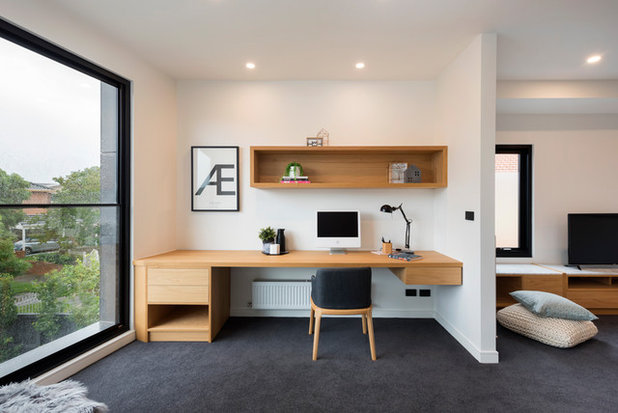 Contemporary Home Office by Sketch Building Design