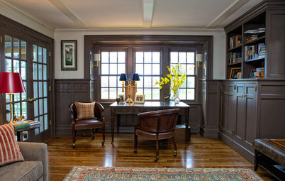 Room of the Day: Stately Study Includes a Cozy Family Space