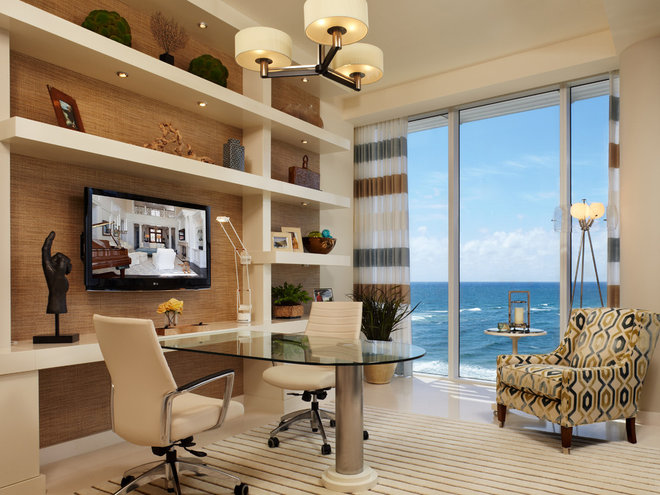 Contemporary Home Office by The Decorators Unlimited
