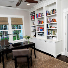 Craftsman Home Office by Sunset Properties of Tampa Bay