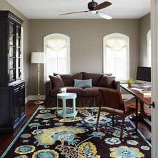 Traditional Home Office by Molly Quinn Design