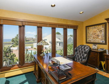 New Wood Casement Windows in Great Home Office - Renewal by Andersen