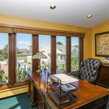 New Wood Casement Windows in Great Home Office - Renewal by Andersen