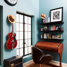 Eclectic Home Office by Deborah French Designs