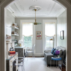 Transitional Home Office by ANA Woodwork Studio LLC