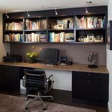 Contemporary Home Office by B&D Building & Remodeling