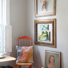 eclectic home office by Mary Prince