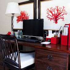 Beach Style Home Office by Jessica Bennett Interiors