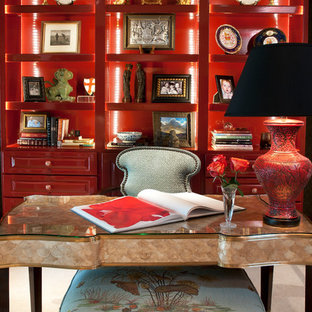 Inspiration for an asian home office remodel in Houston