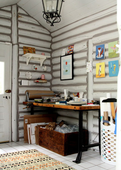 Eclectic Home Office by Jeff Jones Snap It Photography