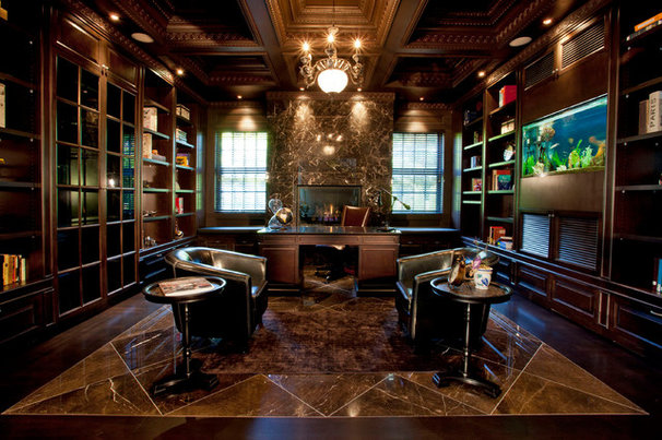 Traditional Home Office by VictorEric