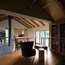 Traditional Home Office by EverLog™ Systems: Worry Free Concrete Logs