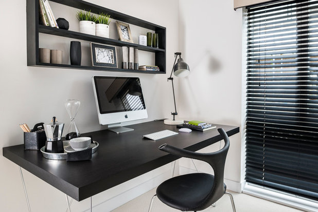 Contemporary Home Office & Library by Artspace Interior Design Ltd