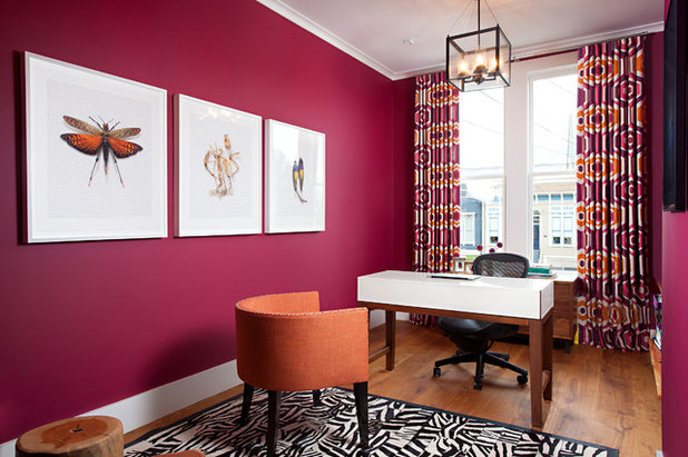 Midcentury Home Office by April Powers Interior Design