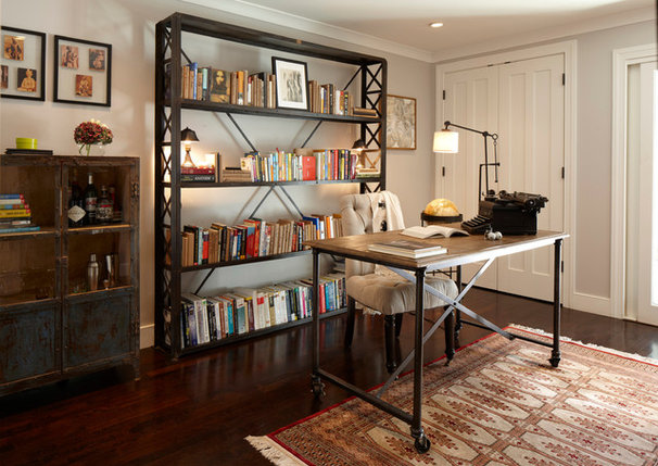 Eclectic Home Office by GEREMIA DESIGN