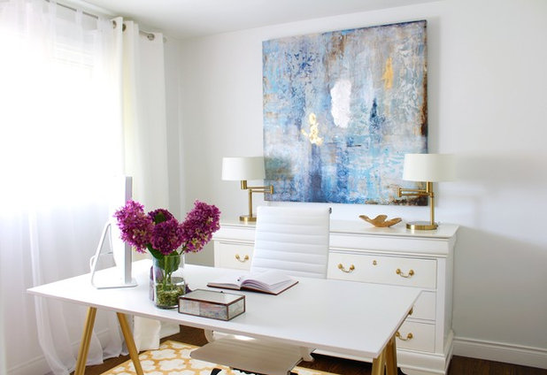 American Traditional Home Office by Ana Cole Interiors