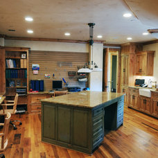 Traditional Home Office by Rosewood Custom Builders