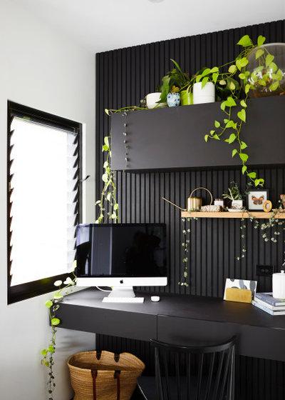 コンテンポラリー ホームオフィス・書斎 by Jess Hunter Interior Design