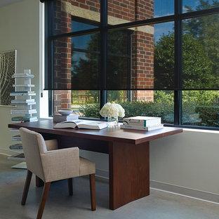 Идея дизайна: кабинет в стиле модернизм