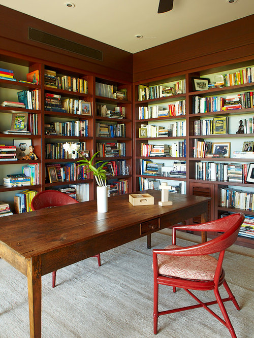 Tropical Library Home Office Home Office Design Ideas