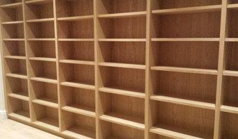 Oak bookcase.
