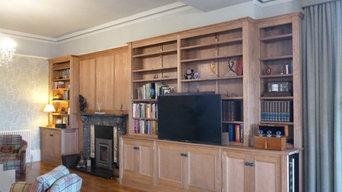 Oak Bookcase Cupboards