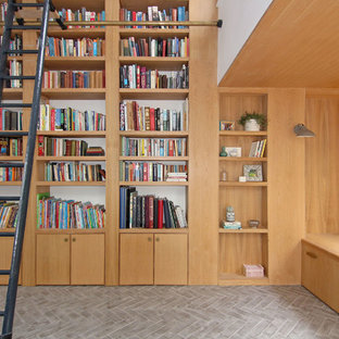 Oak Double Height Library and Window Seat