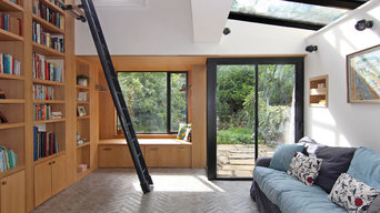 Oak Double Height Library and Windowseat